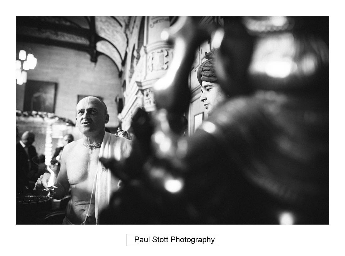 Indian wedding ceremony oxford town hall 001 - Wedding Photography Oxford Town Hall - Christian and Radhika