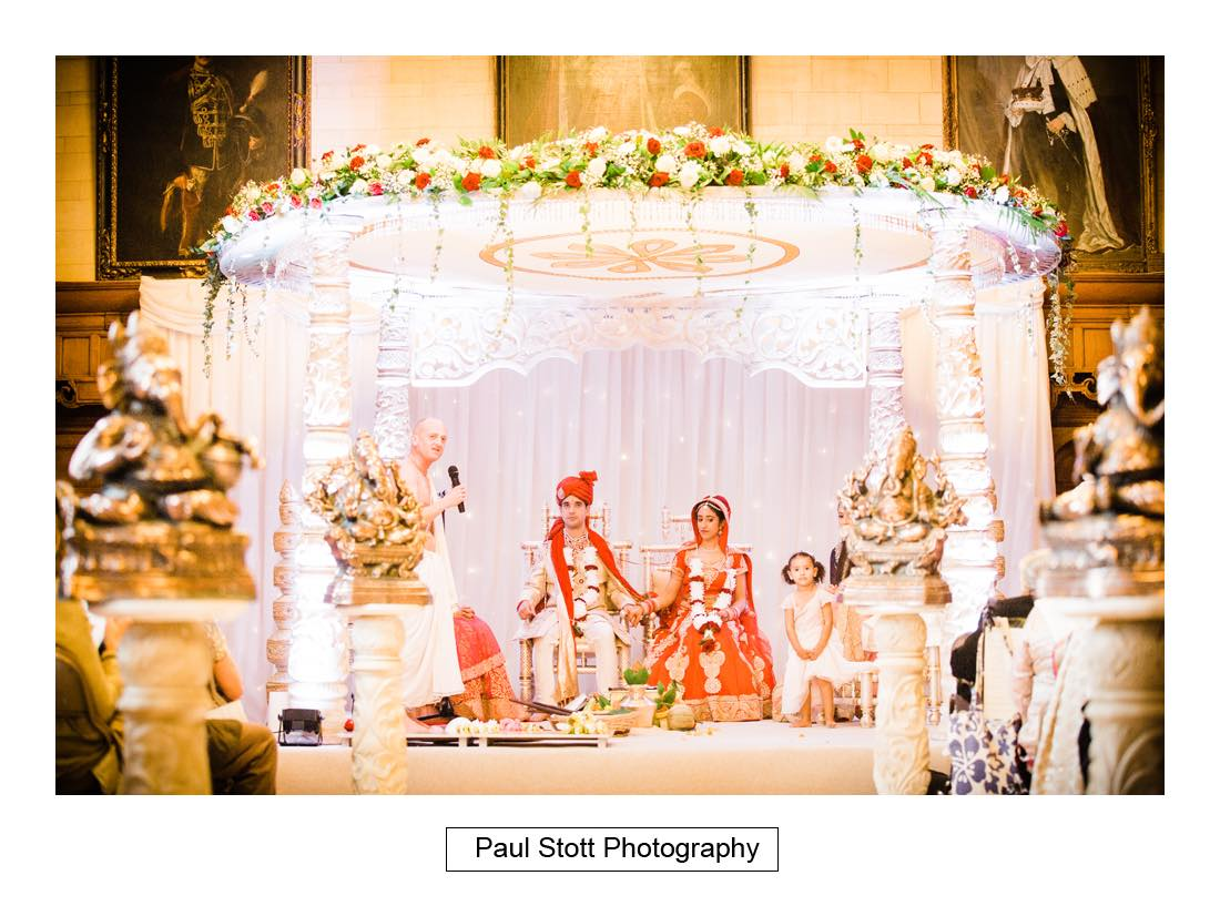Indian wedding ceremony oxford town hall 003 - Wedding Photography Oxford Town Hall - Christian and Radhika