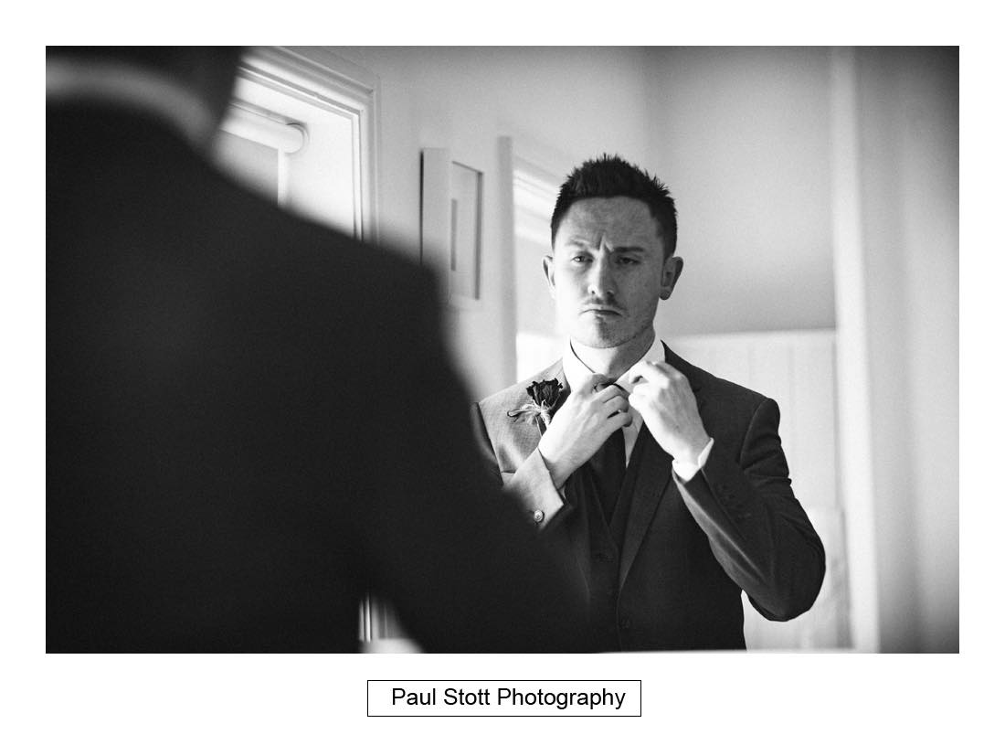 groom preparation - Wedding Photography Shrewsbury Castle - Aprille and Steven