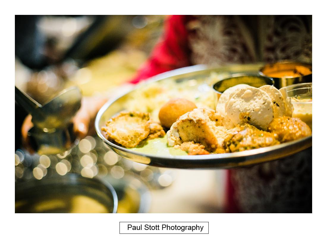 indian food 001 - Wedding Photography Oxford Town Hall - Christian and Radhika