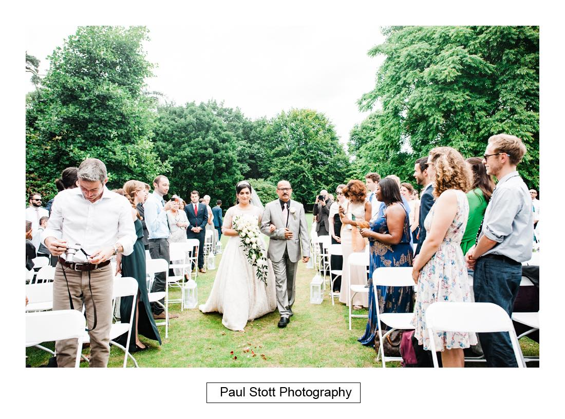 outdoor wedding ceremony capel manor 001 - Wedding Photography Capel Manor - Zaineb and Jonny