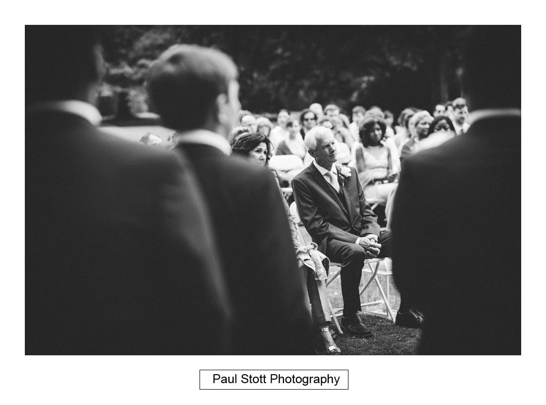 outdoor wedding ceremony capel manor 003 - Wedding Photography Capel Manor - Zaineb and Jonny
