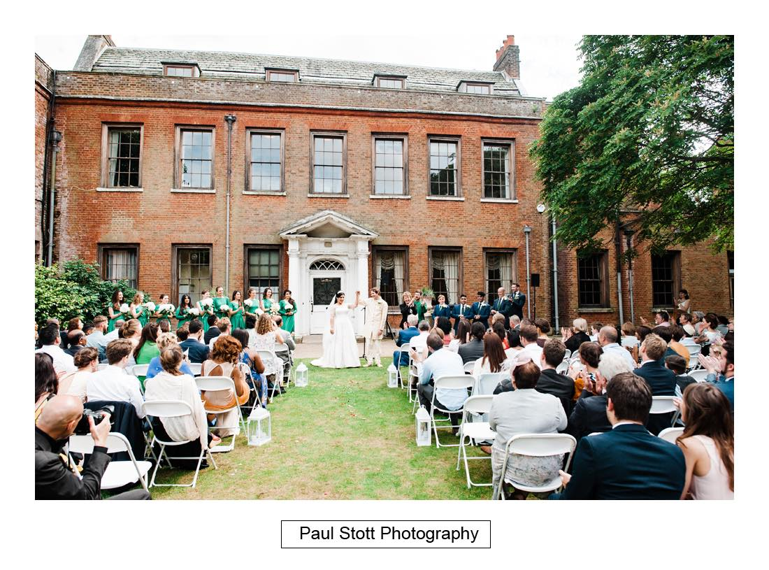 outdoor wedding ceremony capel manor 004 - Wedding Photography Capel Manor - Zaineb and Jonny