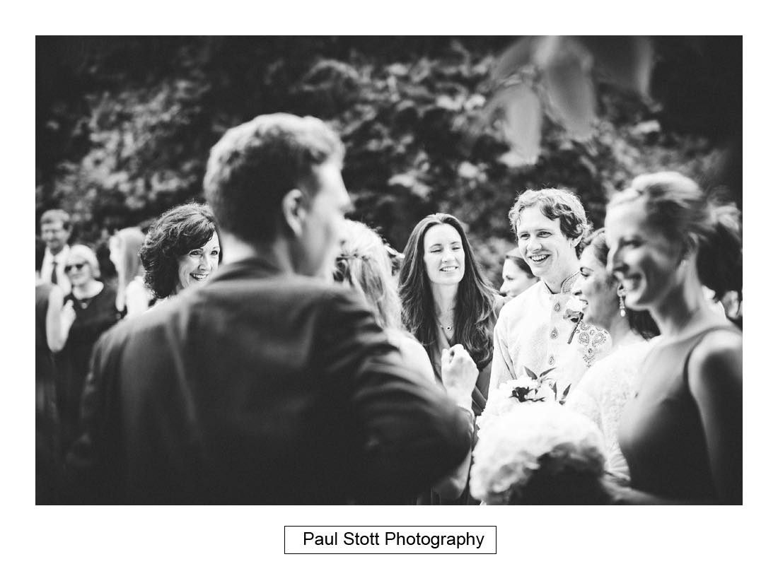 outdoor wedding ceremony capel manor 006 - Wedding Photography Capel Manor - Zaineb and Jonny