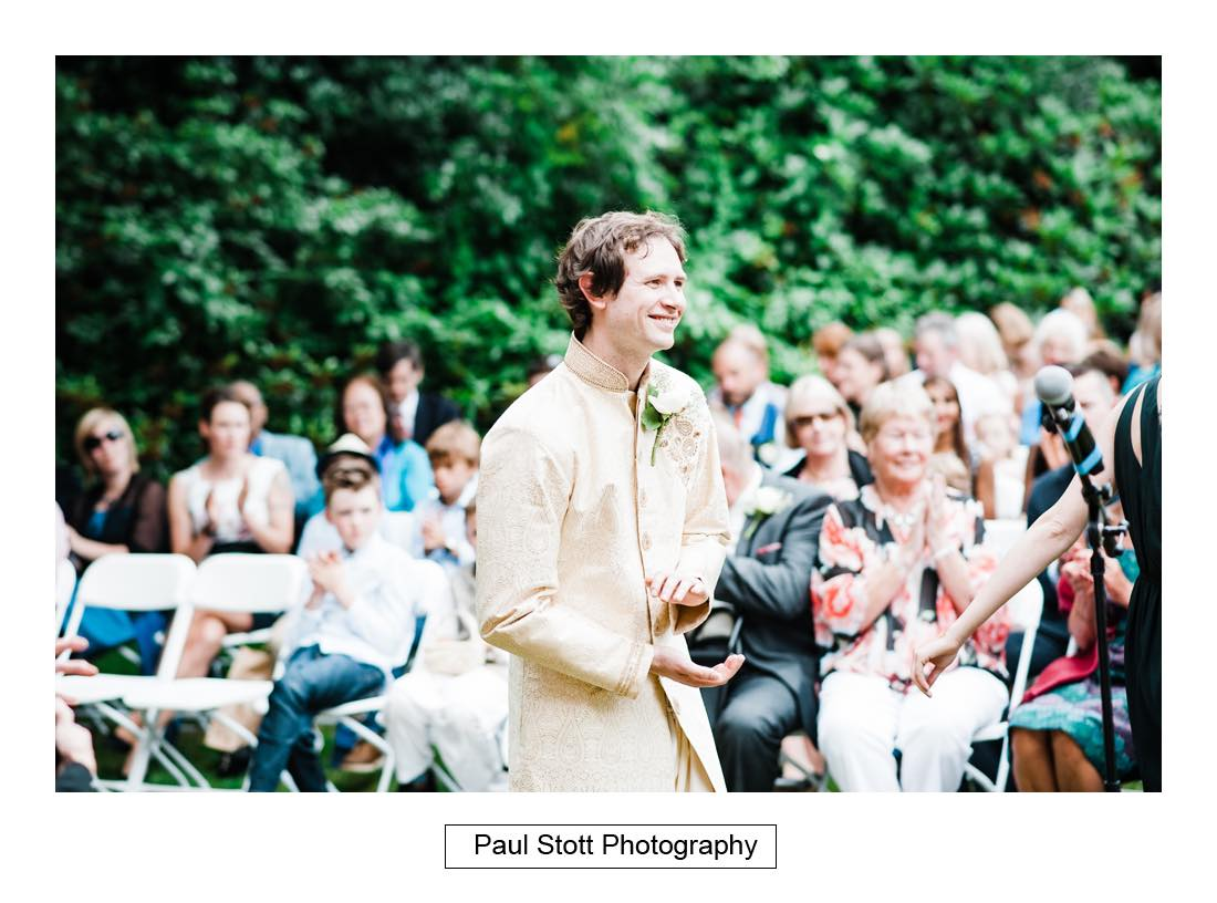 outdoor wedding ceremony capel manor 007 - Wedding Photography Capel Manor - Zaineb and Jonny