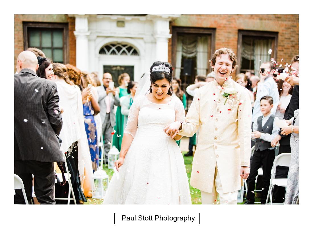 outdoor wedding ceremony capel manor 010 - Wedding Photography Capel Manor - Zaineb and Jonny