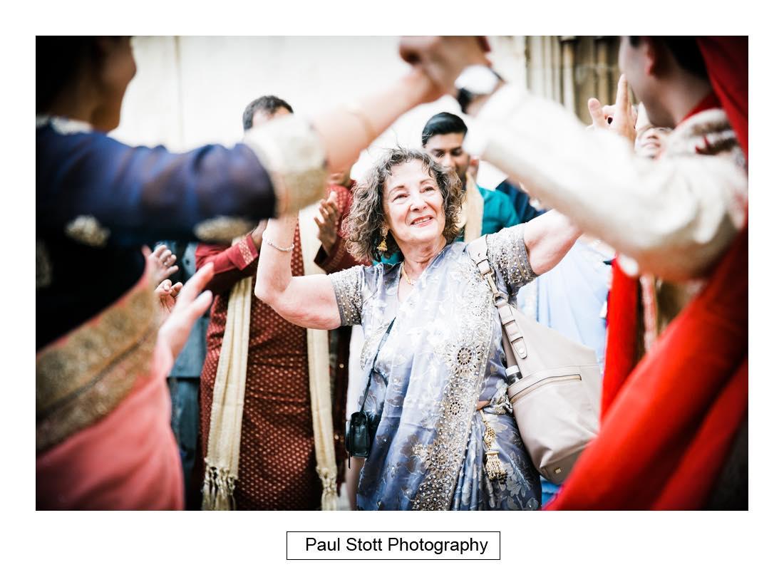 oxford indian wedding procession 004 - Wedding Photography Oxford Town Hall - Christian and Radhika