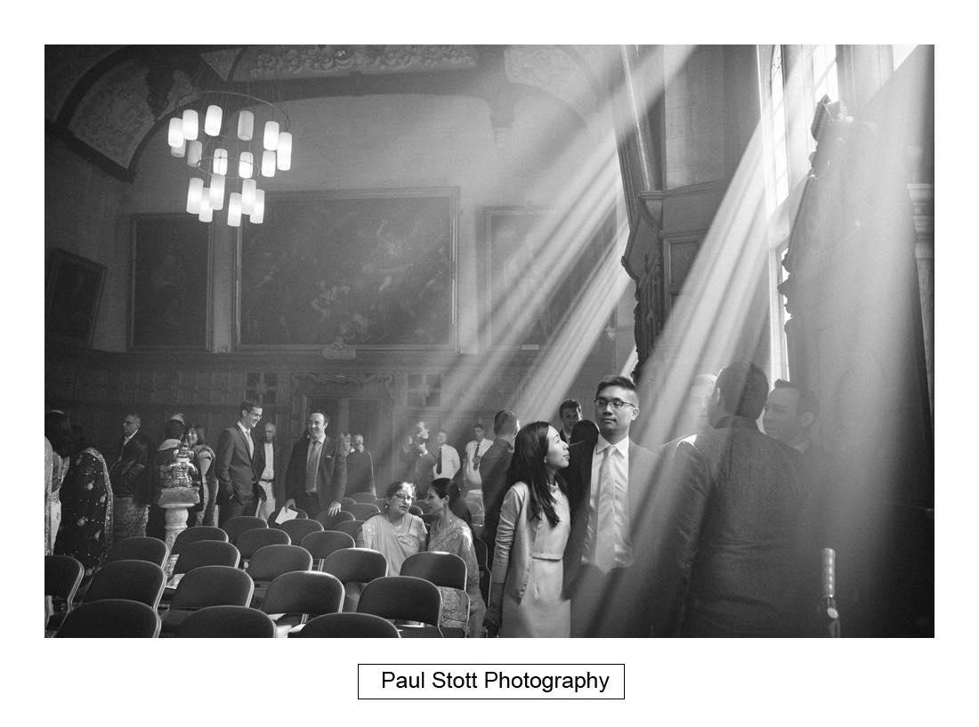 rays light oxford town hall - Wedding Photography Oxford Town Hall - Christian and Radhika