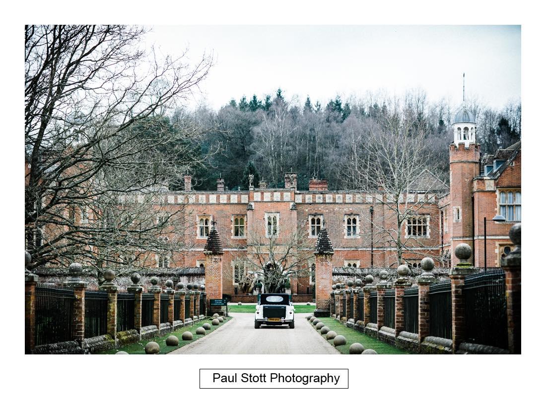 wedding car wotton house 001 - Wedding Photography Wotton House - Laura and Tim