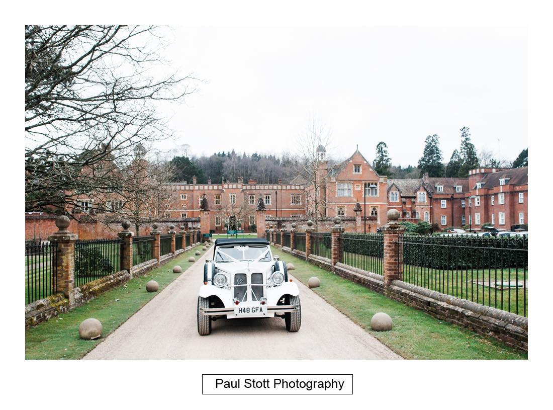 wedding car wotton house 002 - Wedding Photography Wotton House - Laura and Tim