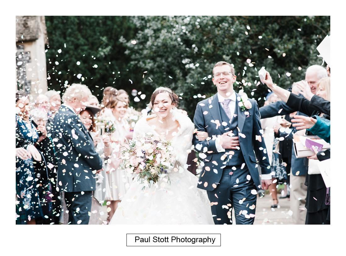 wedding confetti - Wedding Photography Wotton House - Laura and Tim