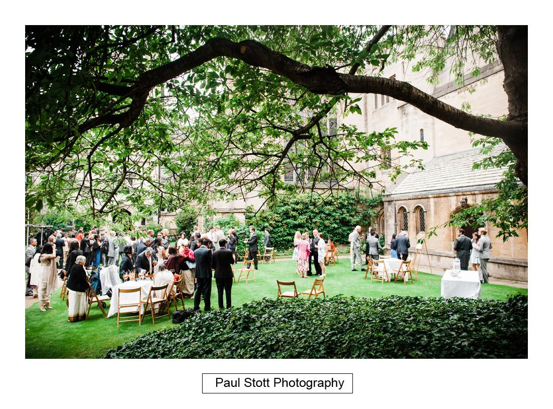 wedding reception oxford harris manchester college 003 - Wedding Photography Oxford Town Hall - Christian and Radhika