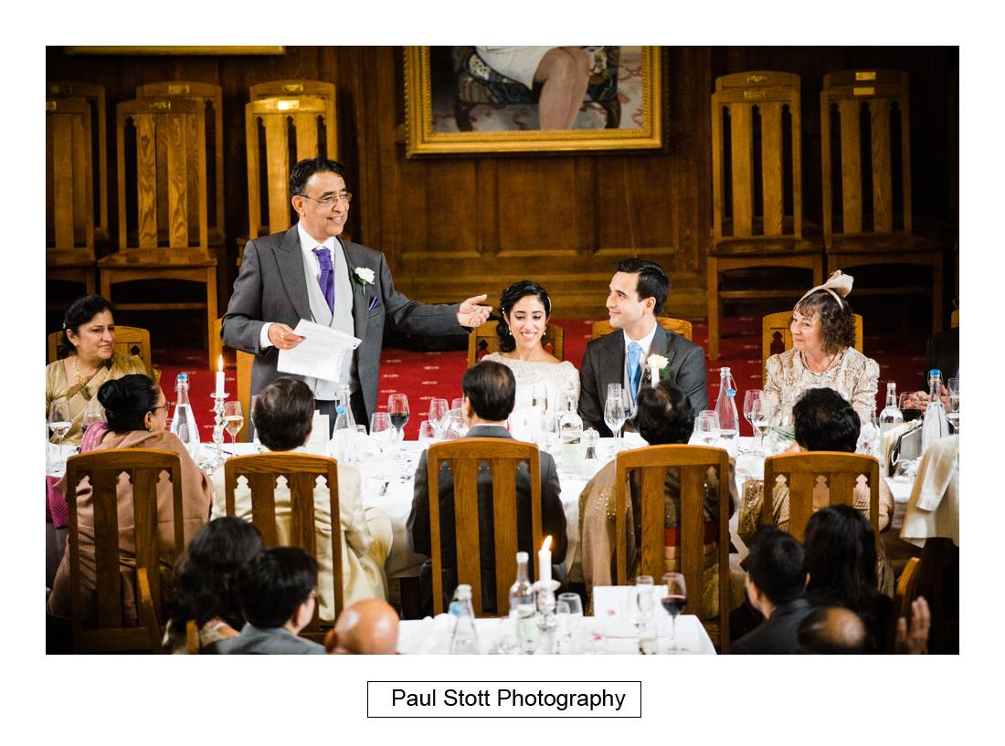 wedding speeches 003 3 - Wedding Photography Oxford Town Hall - Christian and Radhika