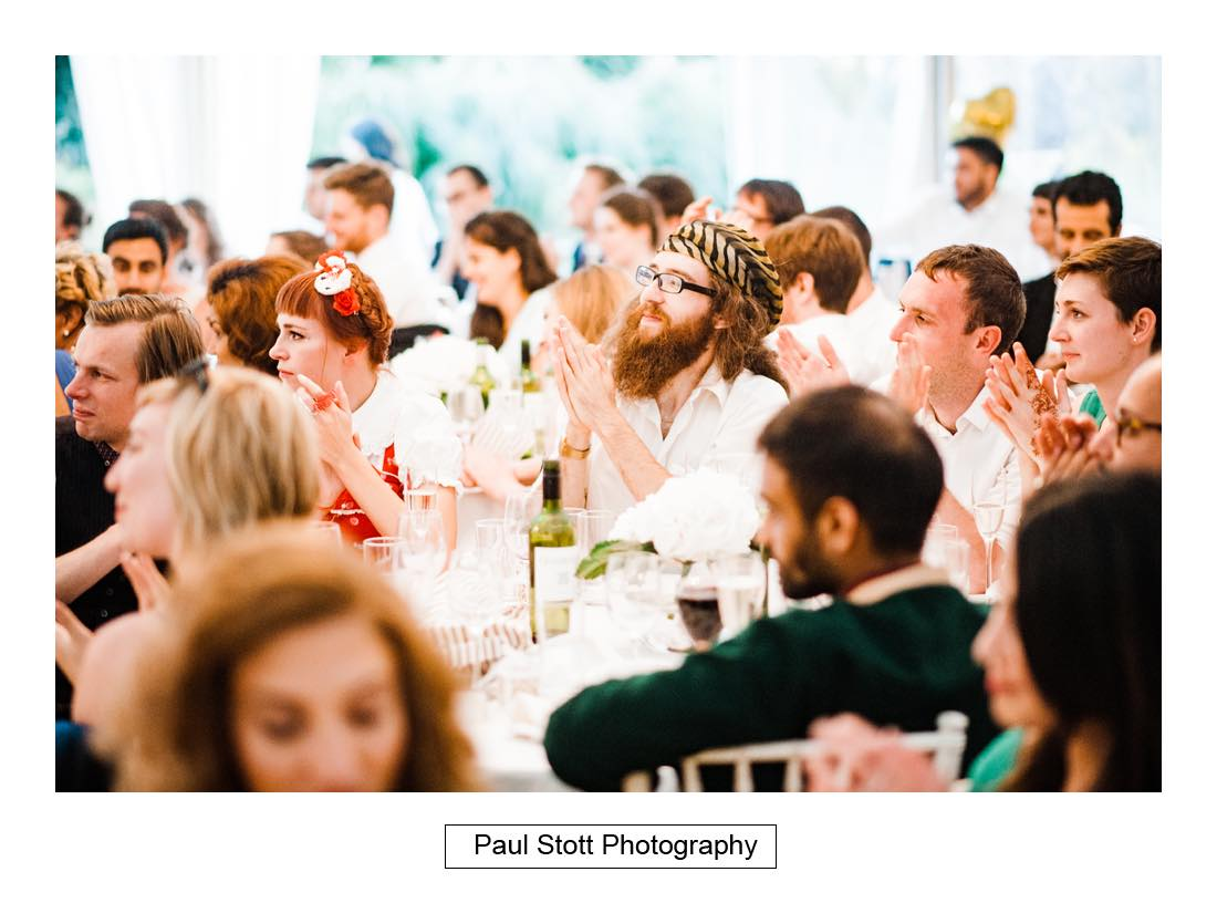 wedding speeches capel manor 002 - Wedding Photography Capel Manor - Zaineb and Jonny