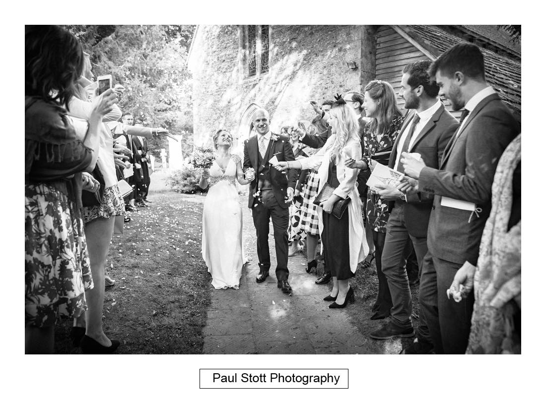 wedding confetti lurgashall 003 - Wedding Photography Bartholomew Barn