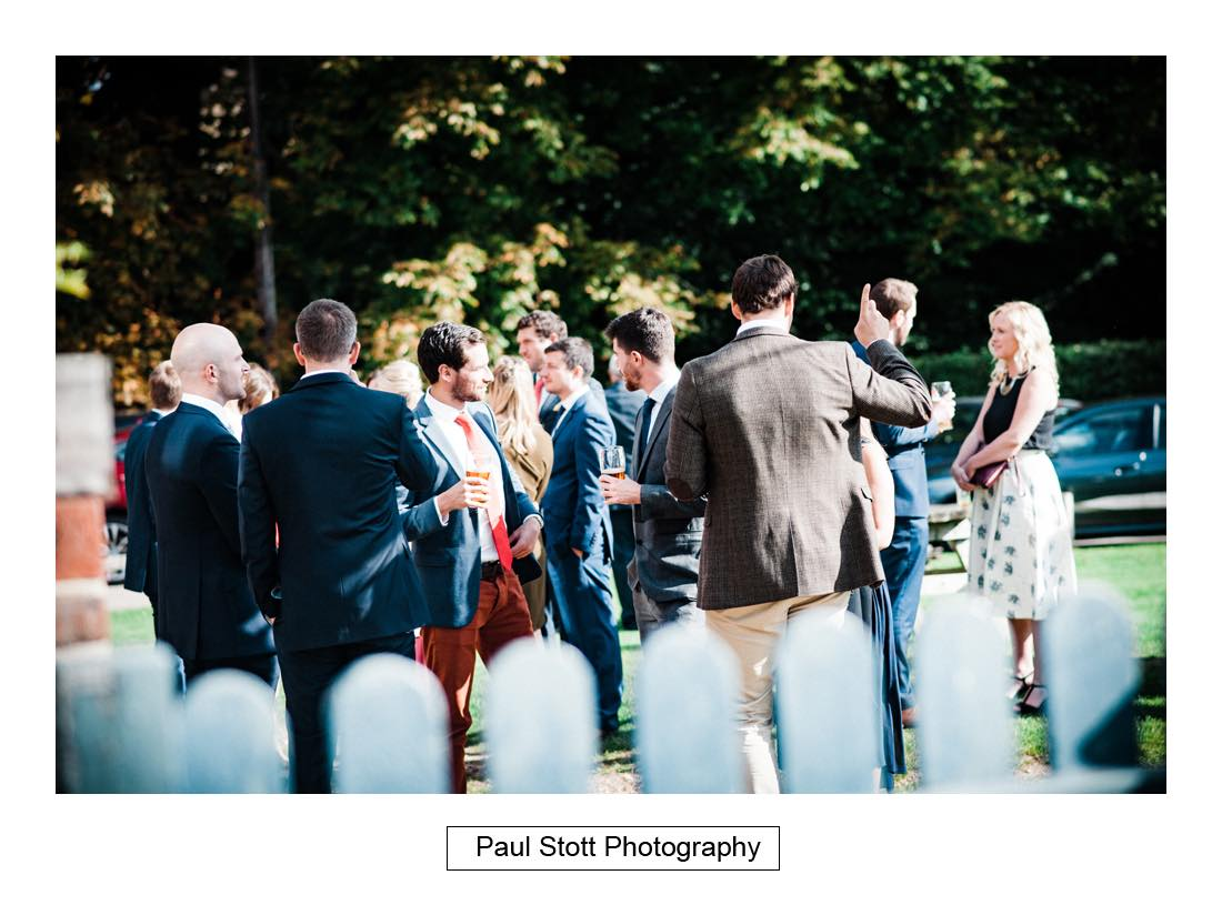 wedding guests pub - Wedding Photography Bartholomew Barn