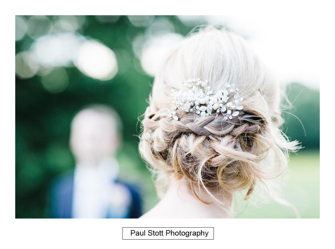 bride hair 1 - Wedding Photography Botleys Mansion - Lucy and Phil