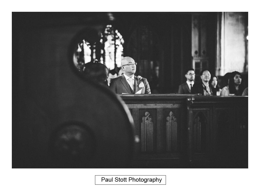 028 wedding ceremony St Etheldreda 005 - Wedding Photography Somerset House - Christina and Colin