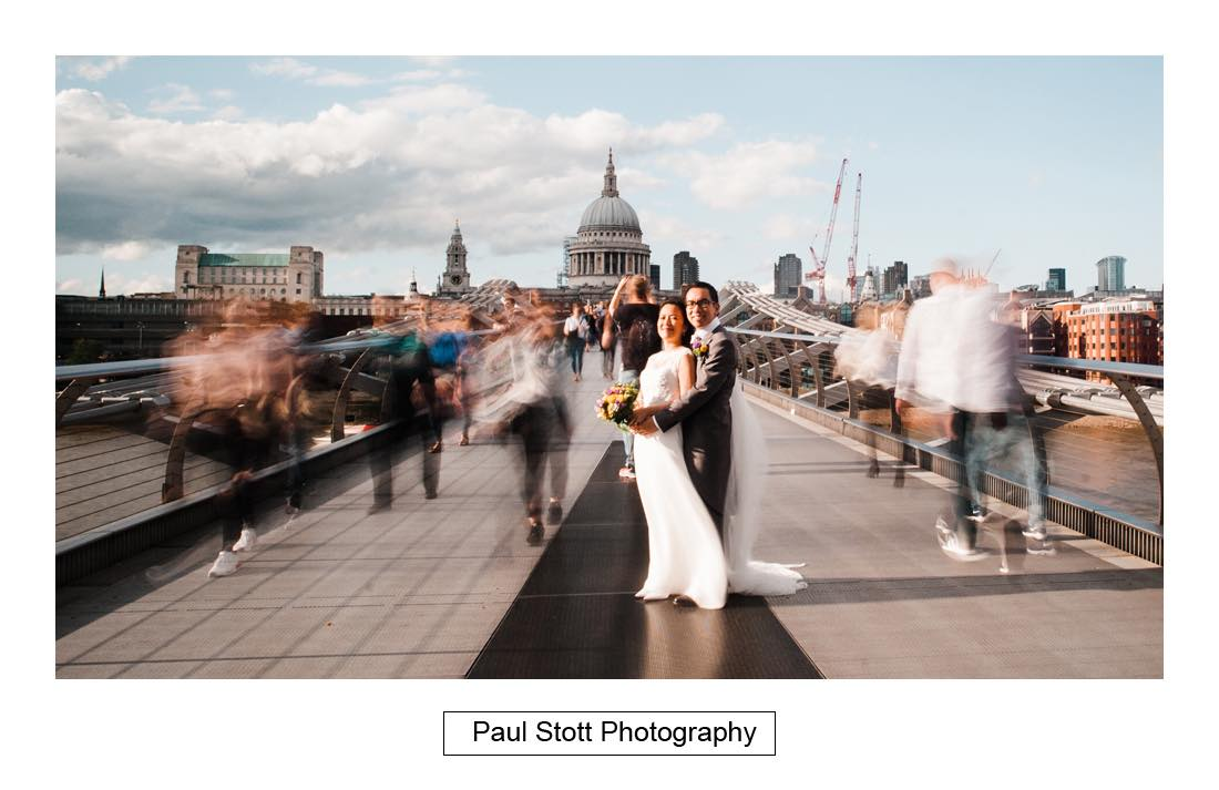 041 wedding photography millenium bridge 006 - Wedding Photography Somerset House - Christina and Colin