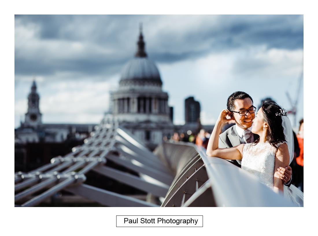 045 wedding photography millenium bridge st pauls - Wedding Photography Somerset House - Christina and Colin