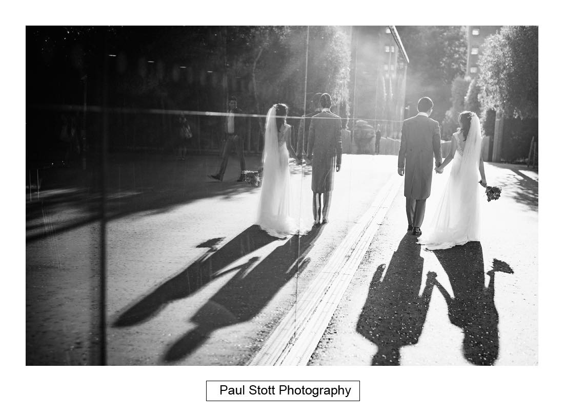 046 bride groom reflection - Wedding Photography Somerset House - Christina and Colin