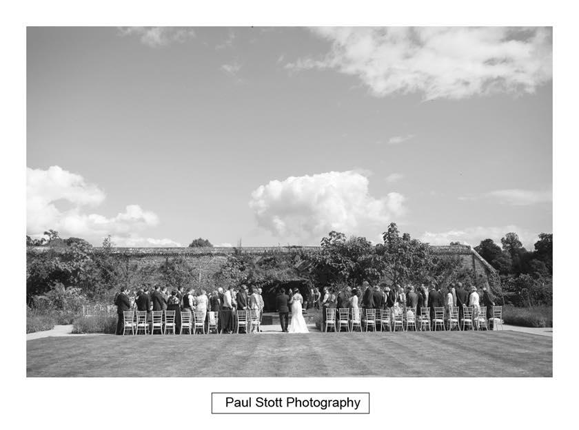 Wedding Ceremony  Cowdray Walled Gardens