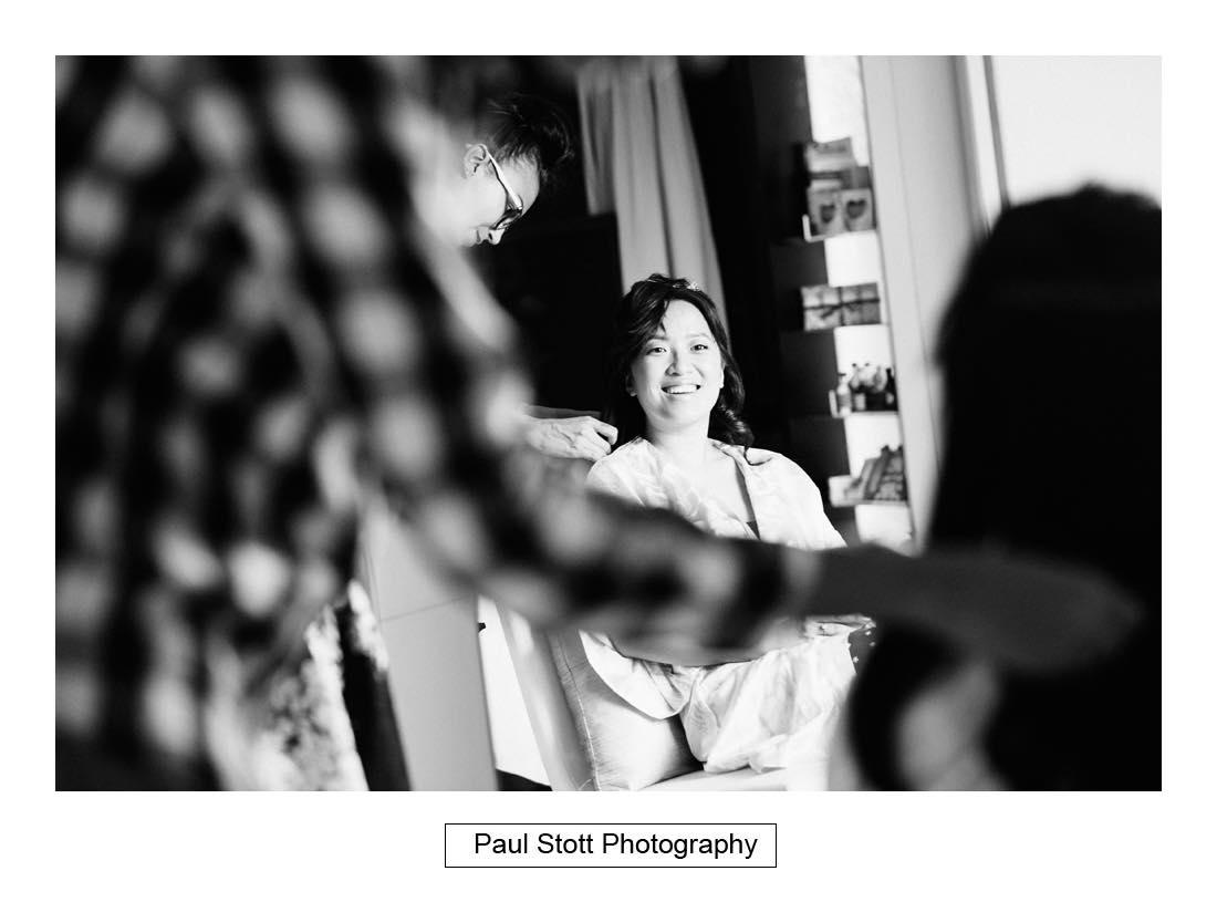 bridal preparation 002 2 - Wedding Photography Somerset House - Christina and Colin