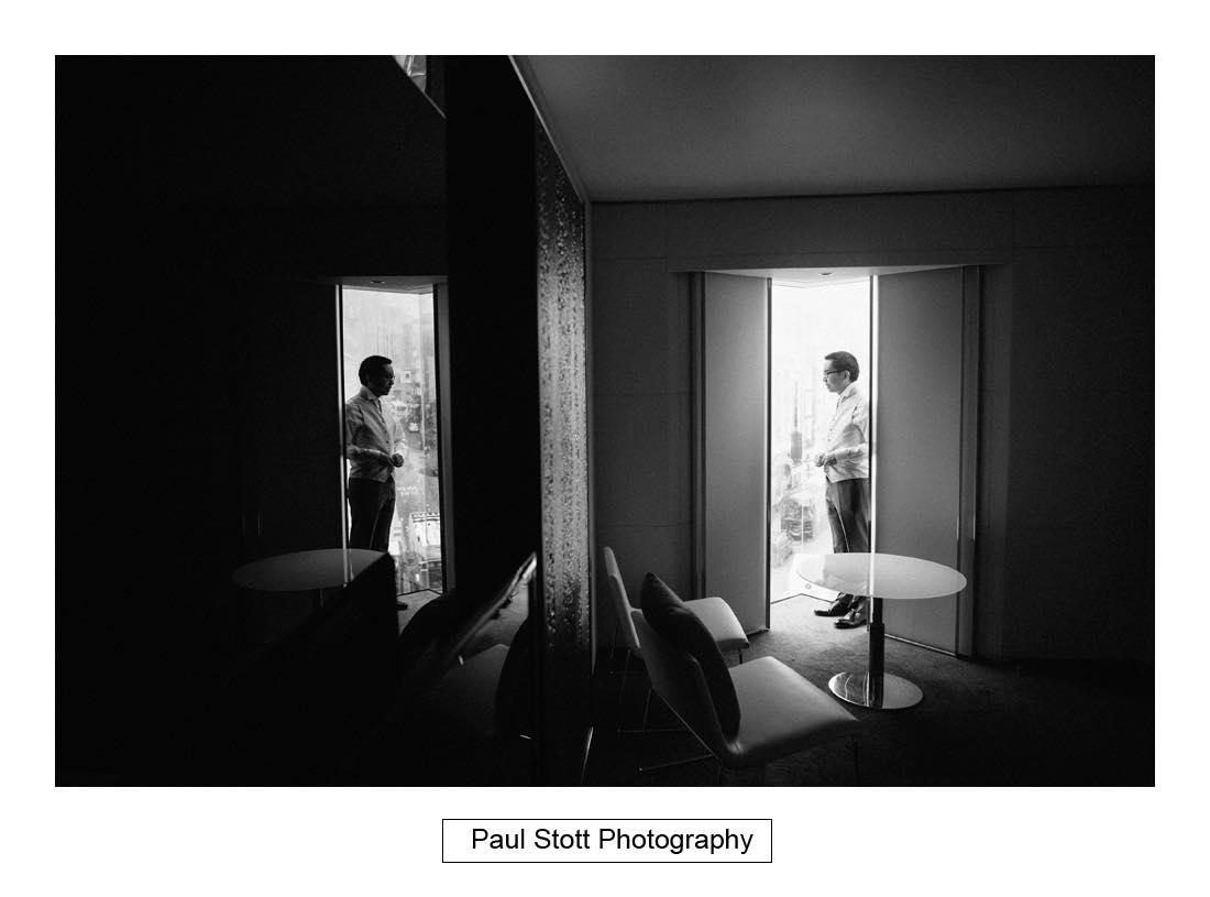 groom preparation 002 - Wedding Photography Somerset House - Christina and Colin