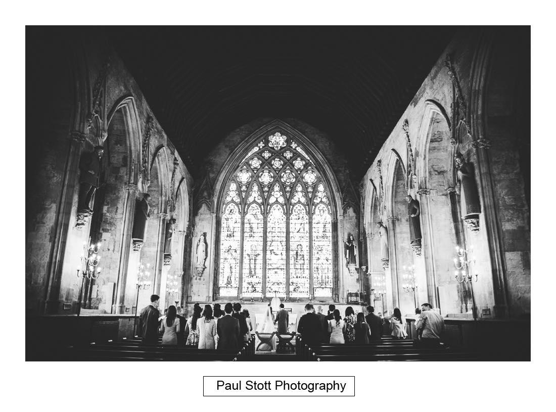wedding ceremony St Etheldreda 003 - Wedding Photography Somerset House - Christina and Colin