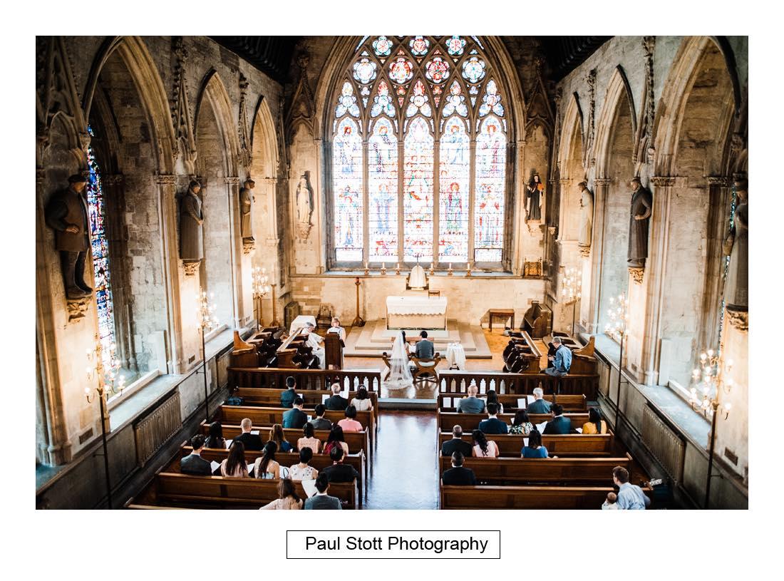 wedding ceremony St Etheldreda 004 - Wedding Photography Somerset House - Christina and Colin