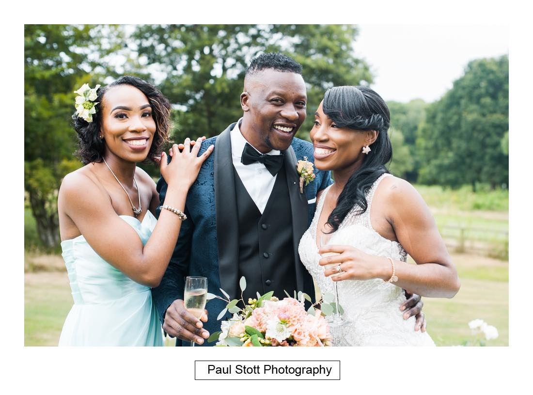 wedding group shot russets 1 - Wedding Photography Russets Country House - Alisha and Oscar