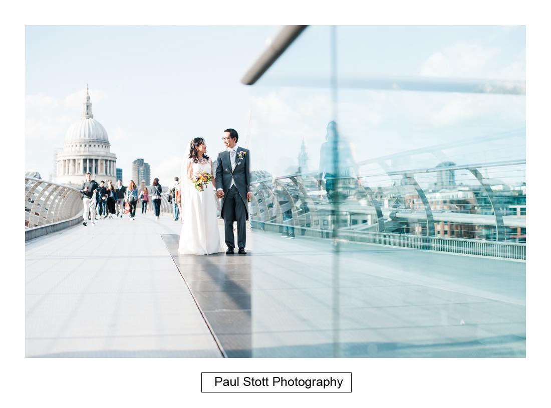 wedding photography millenium bridge 002 - Wedding Photography Somerset House - Christina and Colin