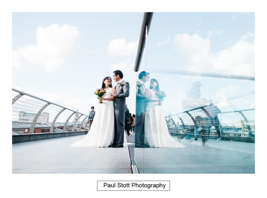 wedding photography millenium bridge 003 - Wedding Photography Somerset House - Christina and Colin