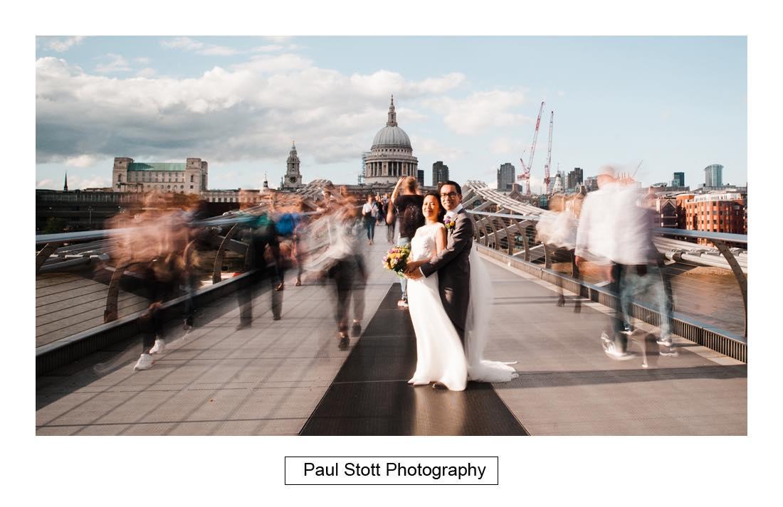 wedding photography millenium bridge 006 - Wedding Photography Somerset House - Christina and Colin