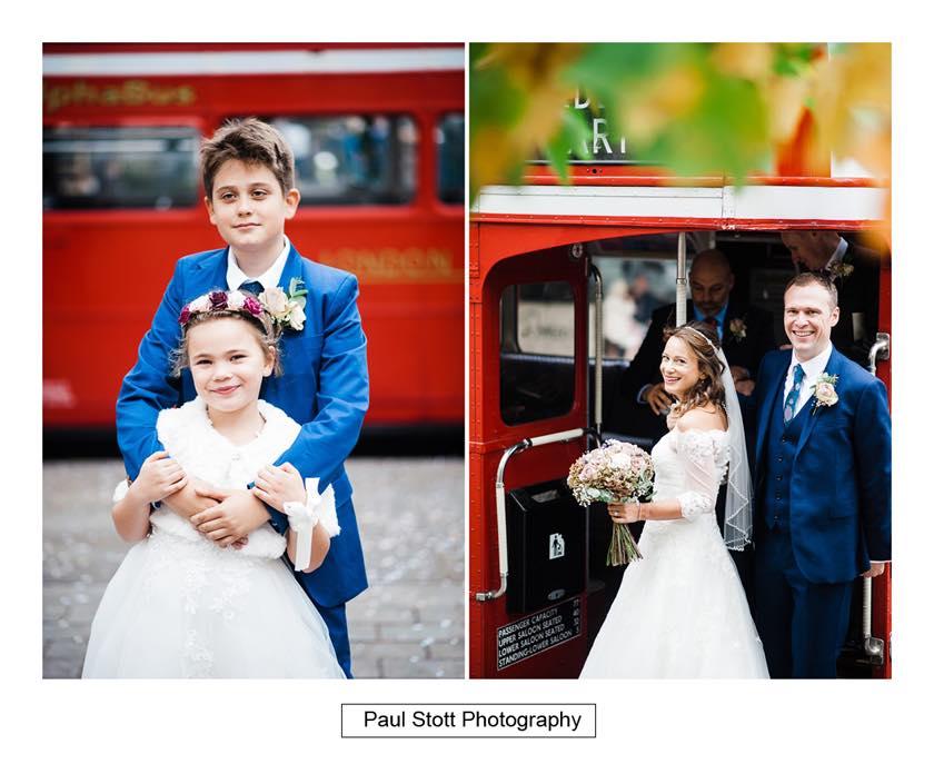 double decker wedding bus 001 - Leadenhall Market  Wedding Photography - Ben and Elle