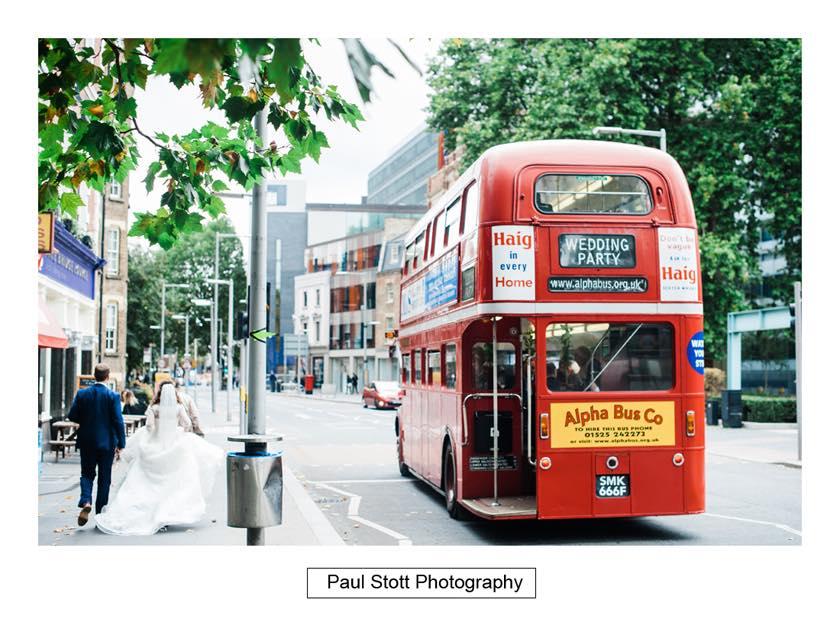 double decker wedding bus 004 - Leadenhall Market  Wedding Photography - Ben and Elle