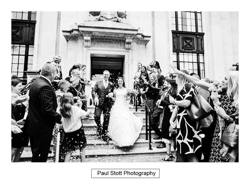 wedding confetti islington town hall 002 - Leadenhall Market  Wedding Photography - Ben and Elle