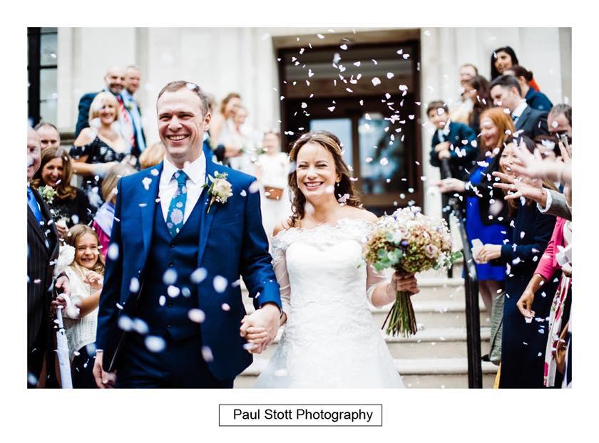 wedding confetti islington town hall 003 - Leadenhall Market  Wedding Photography - Ben and Elle