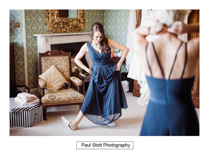 bridal preparation 009 1 - Wiston House Wedding Photography - Laura and Will