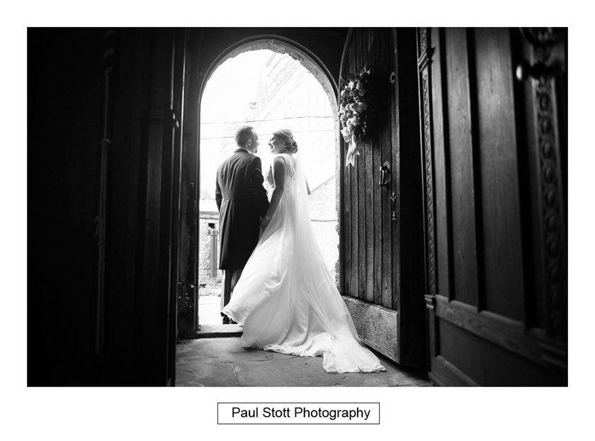 bride groom exiting church - Wiston House Wedding Photography - Laura and Will
