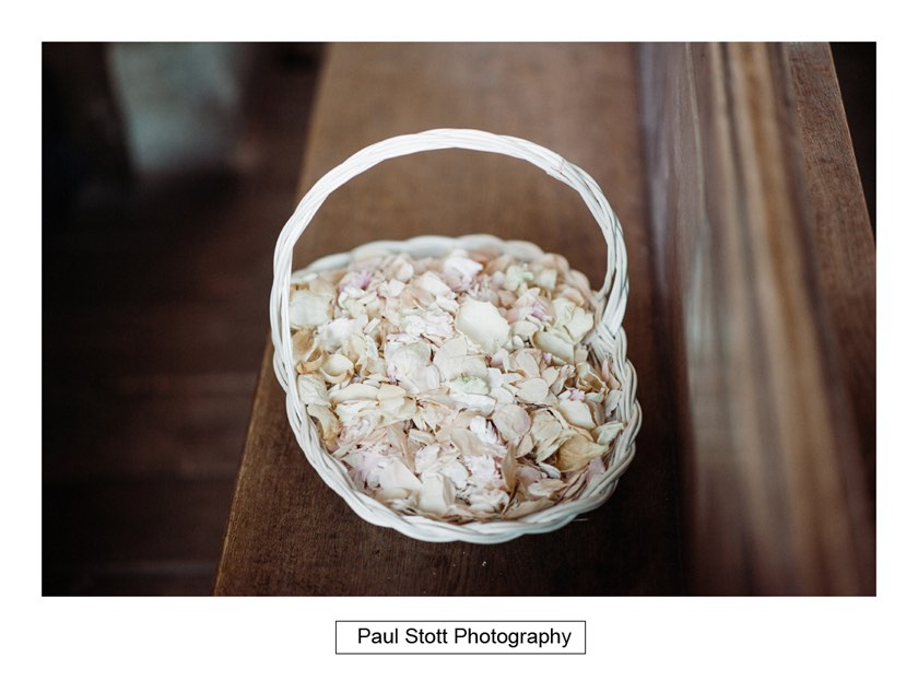 confetti basket 1 - Wiston House Wedding Photography - Laura and Will