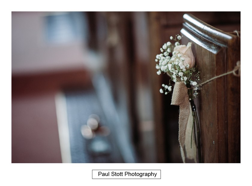 flowers church 1 - Wiston House Wedding Photography - Laura and Will