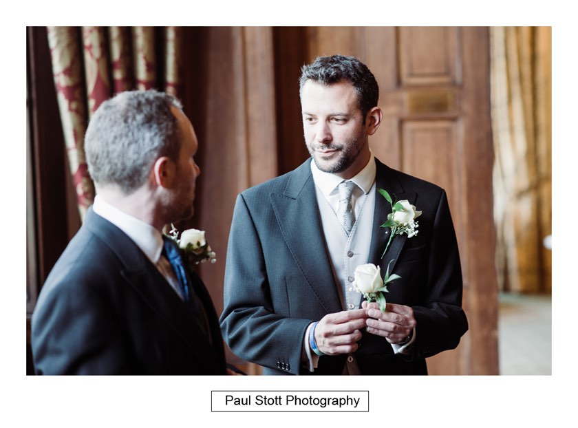 groom preparation 003 1 - Wiston House Wedding Photography - Laura and Will