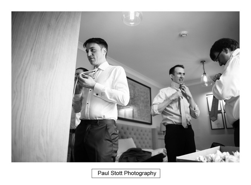 groom wedding preparation 002 - Wotton House Wedding Photography - Na Lee and James