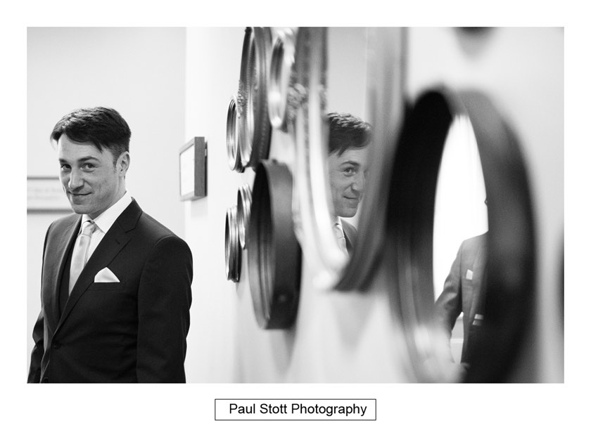 groom wedding preparation 003 - Wotton House Wedding Photography - Na Lee and James