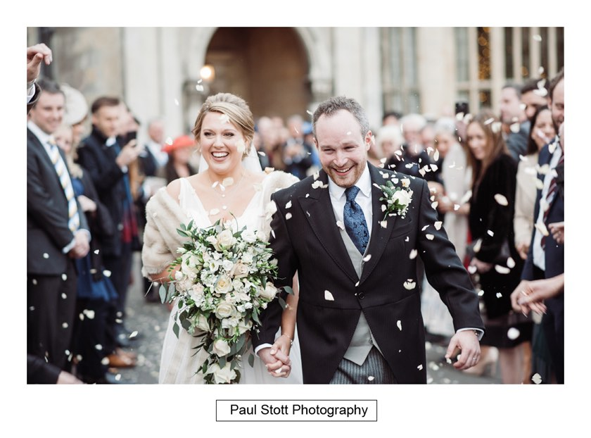 wedding confetti 004 1 - Wiston House Wedding Photography - Laura and Will