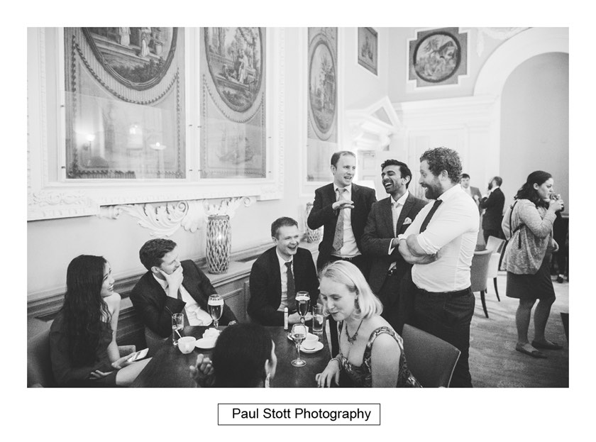 wedding guests bar wotton house - Wotton House Wedding Photography - Na Lee and James