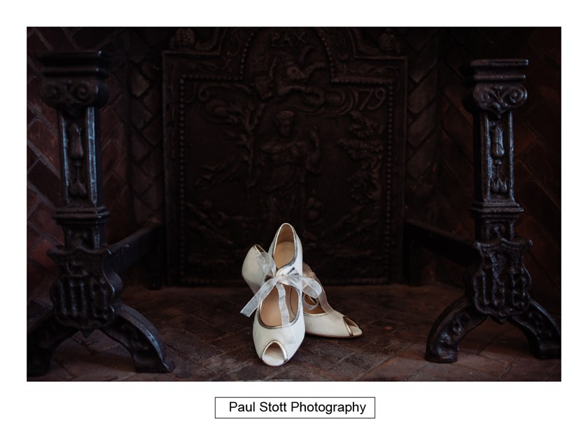 wedding shoes 001 1 - Wiston House Wedding Photography - Laura and Will
