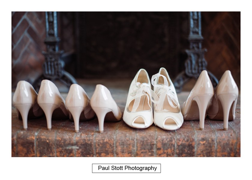 wedding shoes 002 1 - Wiston House Wedding Photography - Laura and Will