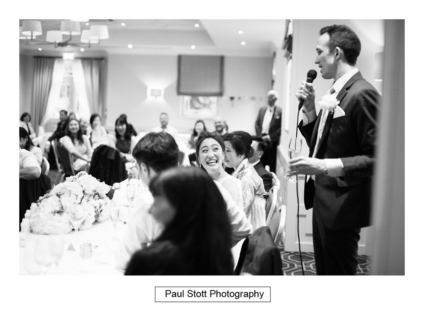 wedding speeches 002 - Wotton House Wedding Photography - Na Lee and James